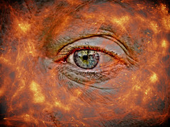 Eye (tobymeg) Tags: eye flames altered images redone abstract corel paintsop panasonic dmcfz72 project