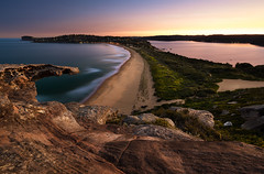 Sunset from Barrenjoey Headland (Orange Orb Photography) Tags: australia barrenjoey palmbeach northernbeaches ocean sunset beach headland bay landscape clouds seascape sydney longexposure rock sea newsouthwales au