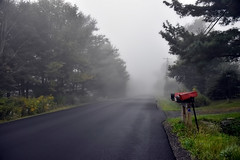 Mist In The Morning (♤♤♤Happy Autumn Equinox♤♤♤) Tags: theflickrlounge alongtheroadside wk38 road fog misty mailboxs