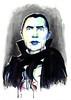 Bela Lugosi as Dracula (MonkeyManWeb.com) Tags: dracula vampire belalugosi hollywood horror monster universal painting watercolor watercolour ink drip