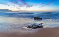 Dawn Seascape (Merrillie) Tags: killcarebeach australia beach centralcoast clouds coast coastal dawn daybreak landscape longexposure nature newsouthwales nsw ocean outdoors photography rocks sand sea seascape shoreline sky surf water waterscape waves
