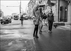 DR150904_1135D (dmitryzhkov) Tags: art city europe russia moscow documentary photojournalism street urban candid life streetlife outdoor streetphotography streetphoto moment light shadow dmitryryzhkov people portrait streetportrait face man sony person stranger black blackandwhite bw monochrome white bnw blacknwhite bnwstreet woman women pretty young pedestrian walk walker motion movement converse conversation three friend walkside