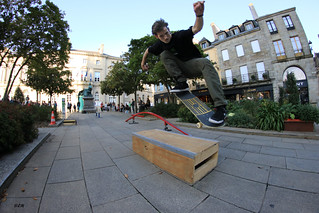 Basile Danet.Ollie over the curb.Quimper.