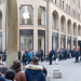 People lining up in front of the Apple Store - iPhone X release
