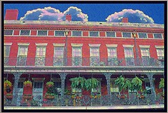 New Orleans LA ~ Pontalba Buildings ~ Historic ~ Balcony (Onasill ~ Bill Badzo) Tags: cuba new york usa orleans la louisiana pontalba buildings cast iron balcony antebelum onasill nrhp historic french quartesr architecture landmark flower planters clouds skyfrenchquarter travel tourist walkingtour attraction bigeasy fun trip jacksonsquare carriage rider baroness vieux carre mississippi river