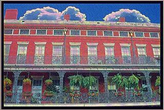 New Orleans LA ~ Pontalba Buildings ~ Historic ~ Balcony