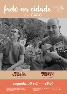 CONCERTO IN FADO - Duetos da Sé - Alfama Lisboa - SEGUNDA-FEIRA 30 OUTUBRO 2017 - 21h30 - FADO NA CIDADE - Miguel Vasques - Rodrigo Crespo
