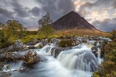 Buachaille Etive Mòr (Mr F1) Tags: buachailleetivemòr johnfanning scotland mountain glen light river colour september landscape dusk sunset scene view