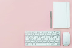 Pastel (Mr.JamesBaker) Tags: apple background connection data desk device display electronics equipment flatlay homeoffice keyboard magicmouse modern mouse notebook notepad office pastel pen pink simple table technology topview white work workspace workplace