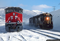 Snowy Soldier Summit (jamesbelmont) Tags: soldiersummit drgw riogrande sp southernpacific railway utah c449w gp402 ge emd dirttrain coal