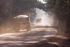Poor road conditions - Karnataka, India