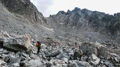 Przed nami  latwy kuluar (nachylanie 25 st.), wyprowadzający na przełączkę Amarati Nest 3369m. (Tomasz Bobrowski) Tags: wspinanie mountains gruzja kaukaz góry amaratinest tetnuldi caucasus georgia climbing