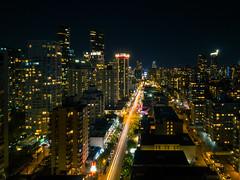 City at Night [explored] (eric_marchand_35) Tags: britishcolumbia canada vancouver night light longexposure poselongue lighttrain