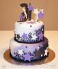 Swirls & Stars Sweet 16 Birthday Cake