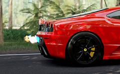 Ferrari F430 Scuderia (Matze H.) Tags: ferrari f430 scuderia fire flames backfire jungle