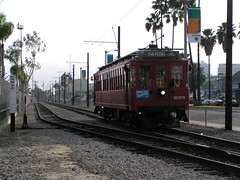 PE 1058 Waterfront Red Car Line Harbor Blvd (jsmatlak) Tags: san pedro california los angeles phl railroad train trolley red car line