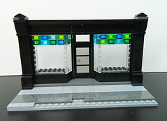 Lego Modular - Angled Storefront Windows (elizabeth nevermind) Tags: lego moc storefront shop store facade technique tips tricks
