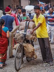 Mumbai 2015 (hunbille) Tags: india mumbai bombay birgittemumbai2lr zaveri bazaar zaveribazaar bazar market bicycle