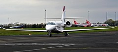 PH-CTR CESSNA CITATION 680 SOVEREIGN NEWCASTLE (toowoomba surfer) Tags: bizjet businessjet executiveaviation jet aeroplane aviation aircraft ncl egnt