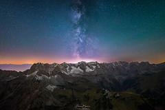 Milchstraße über dem Karwendel (F!o) Tags: karwendel sonnjoch lamsenjoch lamsenspitze lamsenjochhütte gramaialm gramaihochleger hochleger sattel milchstrase milkyway sterne sternenhimmel nightscape nachtlandschaft mountains berge alpen alps