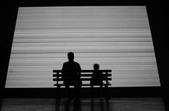 (Russell Siu) Tags: black white bw street candid art exhibition despair escape return company kid child legacy wabisabi hoffnung sehnsucht desire hope man grey screen fade