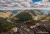 Grandview New River Gorge (Thomas DeHoff) Tags: new river gorge clouds sony a700 sigma 1020