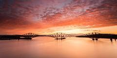 Forth Rail Bridge Sunrise (Chris_Hoskins) Tags: unescoworldheritagesite wwwexpressionsofscotlandcom scottishlandscapephotography landscape centralscotland scottishlandscape firthofforth sunrise scotland forthrailbridge