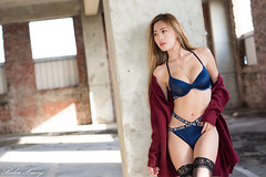 DSC_7522 (Robin Huang 35) Tags: 黃艾比 abbie 彰濱廢墟 彰化 廢墟 內衣 underwear jkf 人像 portrait lady girl nikon d810