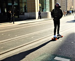 Cross Street sk8r (LozHudson) Tags: fuji x100s fujifilmx100s manchester street streetphotography people skateboard