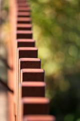 domino effect (Francis Mansell) Tags: metal post rust fence dof depthoffield bokeh kewgardens kew royalbotanicgardenskew macro