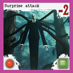 """Manifestation of Slenderman: Surprise attack"" 3/10 - Arkham Horror Monster, front side (dizzyfugu) Tags: slender slenderman urban myth horror child abduction lovecraft cthulhu arkham great old one servant race monster board game epic dizzyfugu strange eons"
