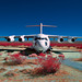 mcdonnell douglas YC-15 (digital color infrared). mojave desert, ca. 2017.