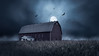 Haunted Barn (David Colombo Photography) Tags: barn moon sky night field corn cornfield spooky halloween scary moody blue grey birds vultures fullmoon davidcolombo davidcolombophotography