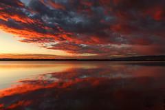 Sunrise, Lake Chatfield (mclcbooks) Tags: sunrise dawn daybreak sky clouds lake morning landscape reflections chatfieldstatepark lakechatfield colorado