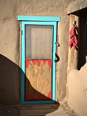 Door with peppers (kimbar/Thanks for 3 million views!) Tags: taospueblo taos door peppers newmexico