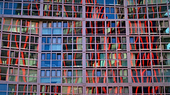 The Netherlands, Rotterdam (ClaDae) Tags: netherlands nederland europe rotterdam windows building architecture reflections red blue colors