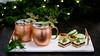 Holiday drinks and snacks (jennywenny) Tags: cocktails drinks holiday streusel bars desserts macarons pecan tarts christmas