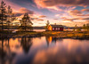 Smooth reflections (andreassofus) Tags: longexposure leebigstopper bigstopper leefilter lake water smooth sky clouds reflections mirror cabin redcabin trees autumn sunset norway vaeleren ringerike tyristrand travel travelphotography nature landscape grandlandscape