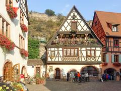 Alsace - Riquewihr, Kaysersberg (Gabriella Hal) Tags: france alsace riquewihr kaysersberg ribauville architecture middle ages flowers