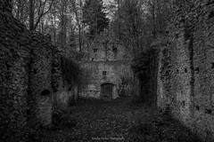 (Sandra Hieber) Tags: tree old building canon ghost germany cathedral bavaria ruin alt deutschland gebäude kapelle bayern tamron ruine halloween geist baum schwarzweis schwarz weis blacknwhite