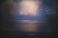 shimmer (james_drury) Tags: morecambe bay midland hotel holga toy lens cheap abstract vignette seascape plastic sunrise blue hour canon