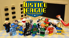 Generations of Justice: The 1980s (Andrew Cookston) Tags: lego dc comics justice league international martian manhunter booster gold guy gardner batman blue beetle doctor dr fate light mr mister miracle oberon captain atom red rocket maxwell lord black canary marvel billy batson shazam elongated man ralph dibny keith giffen jm dematteis kevin maguire 1980s 80s custom minifig minifigure minifigmadness sfx minifigures ug capemadness photoshop toy still life nikon macro photography andrew cookston andrewcookston