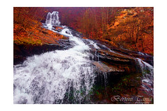 Waterfall (frogghyyy) Tags: waterfall landscape nature water autumn woods fall foliage forest