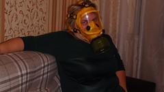 PA290093 (Axelweb) Tags: chubby bbw girl lady female rainwear raincoat pvc shiny wellies rubber boots gas mask plastenky holinky rainsuit rain suit plastic wellington gumboots galoshes gummi gasmask