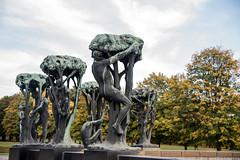 DSC_8737-2 (Maryna Beliauskaya) Tags: oslo autumn statue statues trees travel norway travelphoto park sky