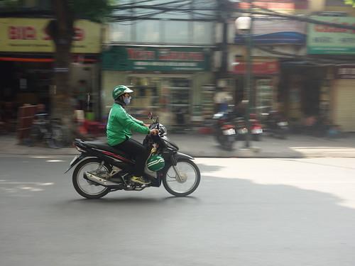 Le moyen de transport le plus courant ici