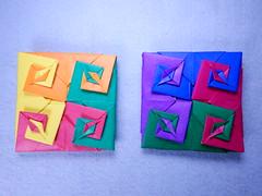 Uzu Coaster (Toshikazu Kawasaki) (ayako kobayashi) Tags: origami toshikazukawasaki uzu whirlpool