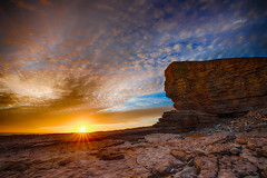 Nash Point sunset (meccabolix) Tags: a7rii tamron 1530 28 sony nash point sunset cliffs sea rocks red blue orange beach