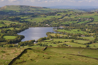 Combs Reservoir, Combs, High Peak, Derbyshire, England.