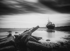 abandon ship (Anthony White) Tags: barrowinfurnessdistrict england unitedkingdom gb ilce7rm2 sel2470gm2 longexposure firecrest16stopnd firecrest formatthitech 16stopsfirecrestndfilter anthonywhitesphotography a7r